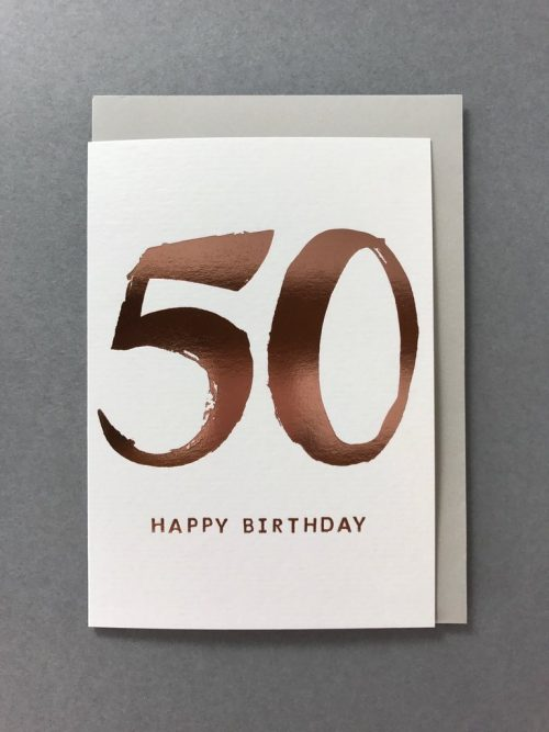 Kate Guest greeting cards - Birthday Age 50 - Sartorial Boutique and Gifts
