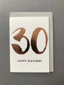Kate Guest greeting cards - Birthday Age 30 - Sartorial Boutique and Gifts