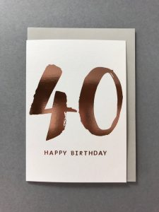 Kate Guest greeting cards - Birthday Age 40 - Sartorial Boutique and Gifts