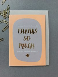 Kate Guest greeting cards - Thanks so much - Sartorial Boutique and Gifts