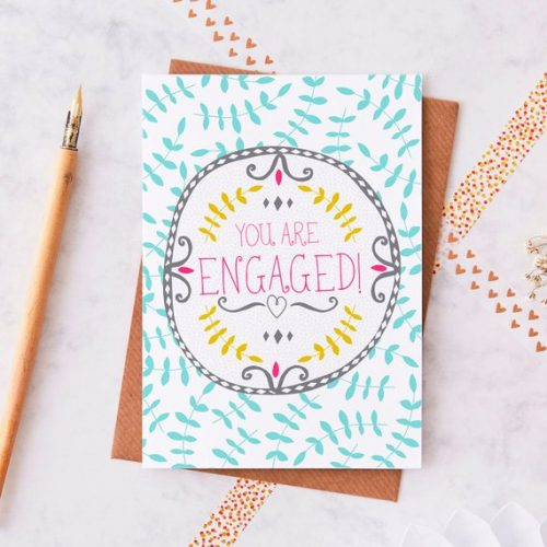 Engagement cards and gifts
