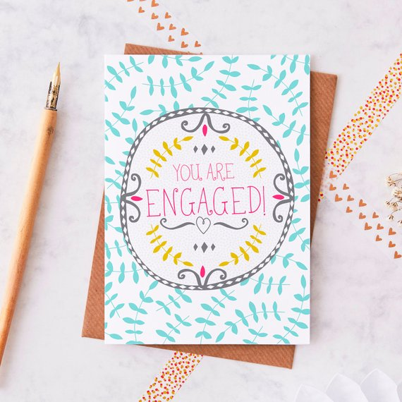 You are Engaged card - Sartorial Boutique and gifts