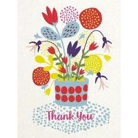 Flower pot thank you card - Sartorial Boutique and Gifts