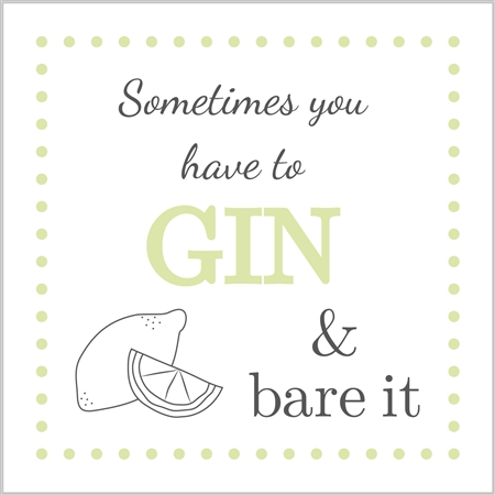 Gin & Bare it card - sartorial Boutique and Gifts