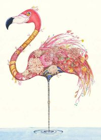 DM collection flamingo card - sartorial boutique and gifts