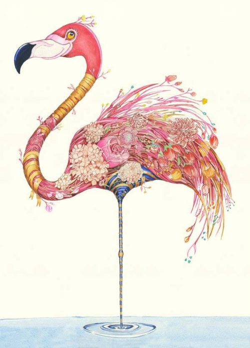 Daniel Mackie collection flamingo card - sartorial boutique and gifts