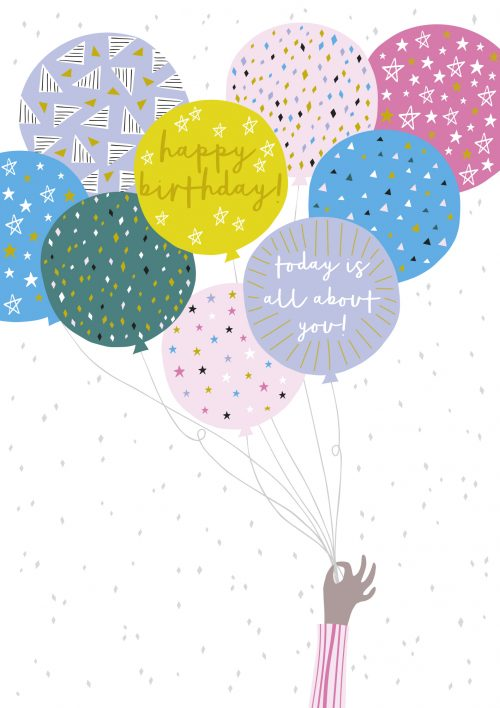 Jessica Hogarth - happy birthday balloons card - sartorial boutique and gifts