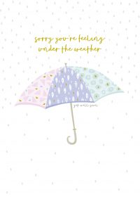 Jessica Hogarth - sorry you're feeling under the weather, get well soon card - sartorial boutique and gifts
