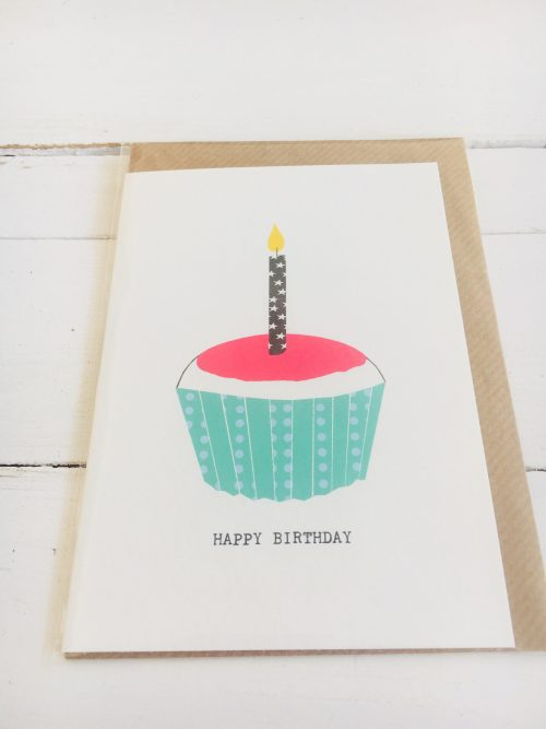 Kate Guest greeting cards - Happy Birthday Cup cake - Sartorial Boutique and Gifts