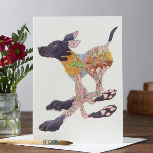 Daniel Mackie collection Black Labrador Dog card - sartorial boutique and gifts