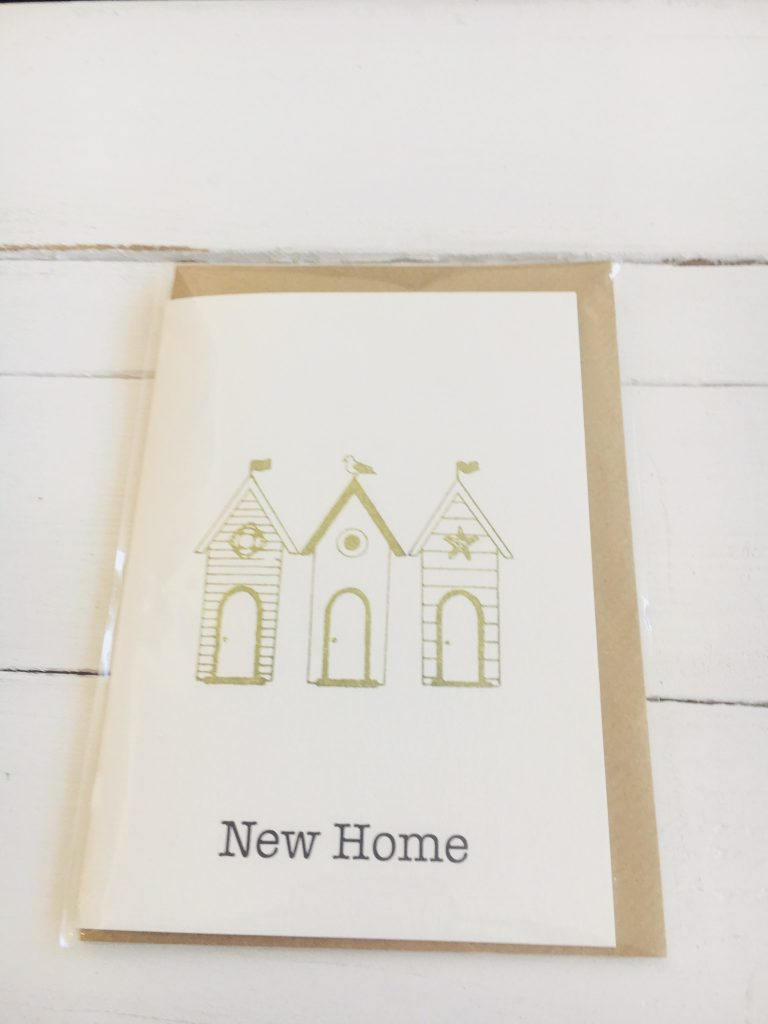 New Home card - green terraced houses - Sartorial Boutique and Gifts
