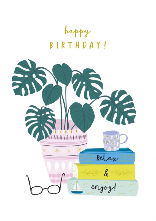 Jessica Hogarth - happy birthday relax and enjoy card - sartorial boutique and gifts