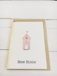 New Home card - red house - Sartorial Boutique and Gifts
