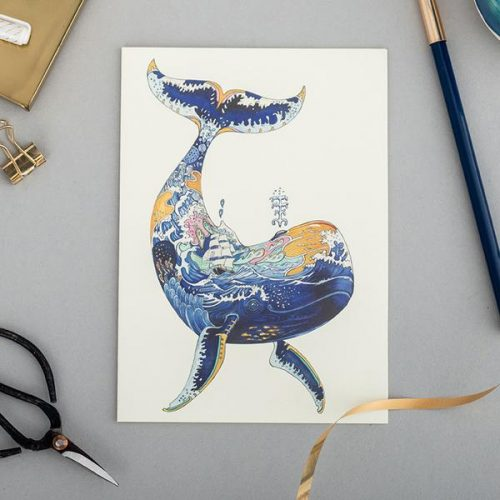 Daniel Mackie collection whale card - Sartorial Boutique and Gifts
