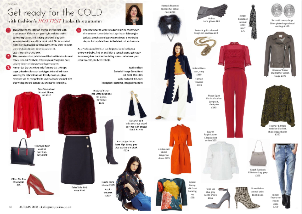 Sartorial Image consultant - Style Tips for Autumn Winter 2018 - Darling Magazine, Richmond, Twickenham & St Margarets